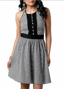 Baby Phat Mini Gingham Halter Dress