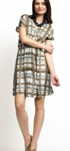 Banana Republic Silk Plaid Dress