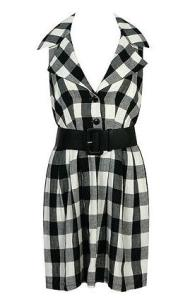 Forever 21 Belted Plaid Linen Dress