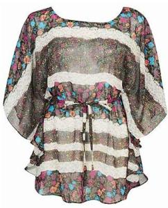 Forever 21 Floral Chiffon Kimono Top