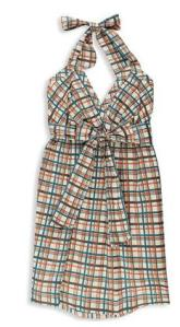 Forever 21 H81 Kailey Plaid Halter Dress