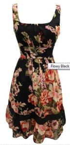 Heavenly Couture Black Floral Summer Dress