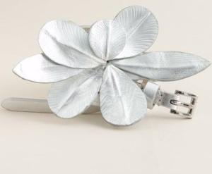 J-Crew Metallic Flower Belt