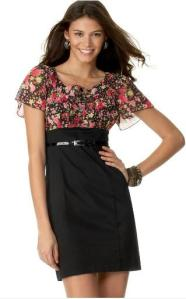 Love Tease Short-Sleeve Floral Dress