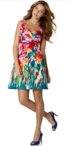 Nine West Sleeveless Floral Dress