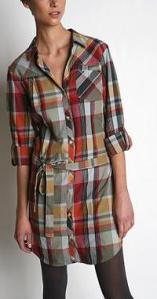 Urban Outfitters BDG Lightweight Flannel Shirt Dress