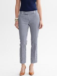 Mad Men Collection Hampton-Fit Gingham Crop - $98