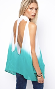 Asos Shirt in Dip Dye with Cutout Back -- $59.85