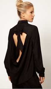 Asos Shirt with Cutout Lace Bow Back - $41.56