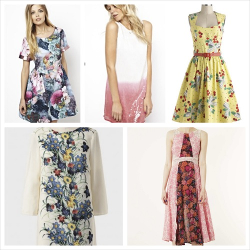 Bridal guest fashion for three summer themed weddings for Garden wedding dresses guest